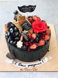 Black с цветком