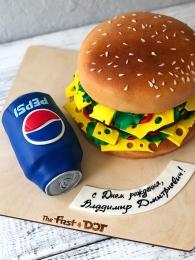 Чизбургер с колой