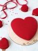 Муссовое сердце в красном
