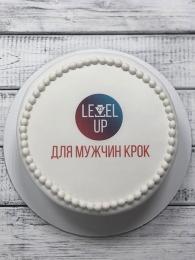 Торт круглый с логотипом