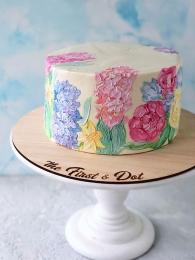Торт с гиацинтами
